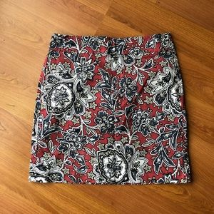 Loft outlet floral mini skirt